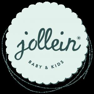 Logo van het merk Jollein. Licht groen rondje met tekst Jollen Baby & kids