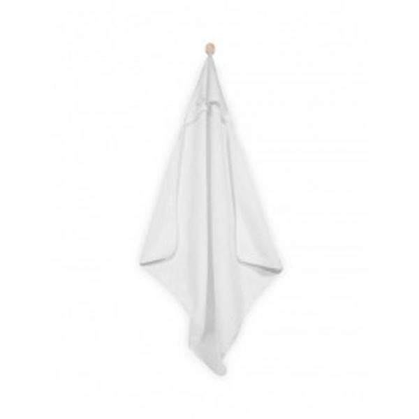 Witte badcape van Jollein met een afmeting van 75 bij 75 cm