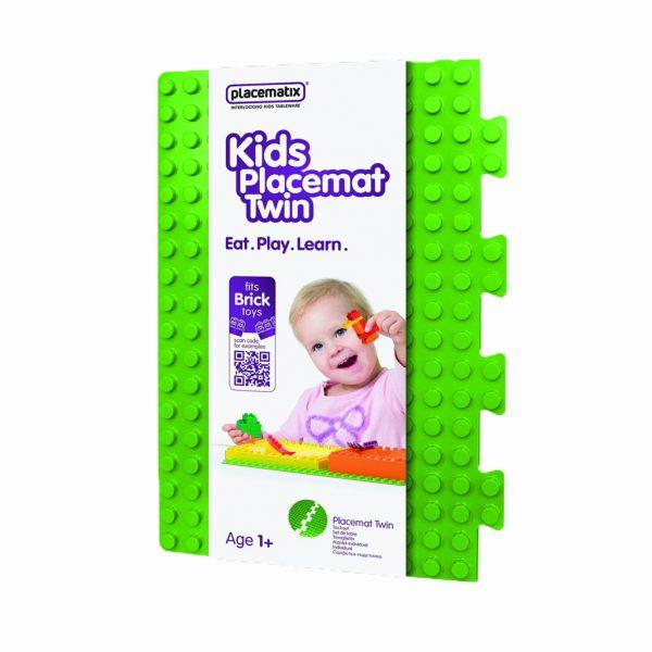 Groene placemat met van lego