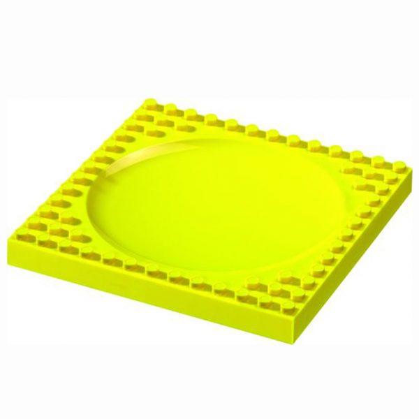 Vierkant geel bord van lego
