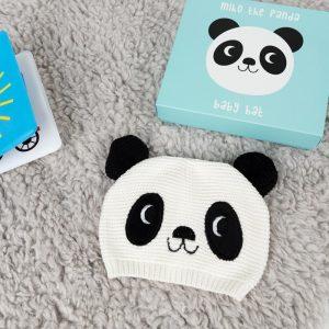 geboortecadeau panda muts